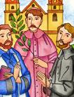 Kassai vértanúk: Szent Márk (1588-1619), Szent Menyhért                     (1584-1619), Szent István (1582-1619) (Az animációt a Color Plus Kft.                     készítette.)