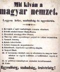 Mit kíván a magyar nemzet (fotó: Gottl Egon)