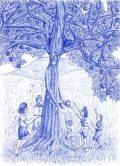 Tar Petra: Illusztráció Kosztolányi Dezső Fák beszéde című művéhez / gyermekrajz