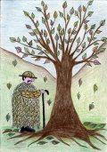 Tiba Fanni: Illusztráció Kosztolányi Dezső Nyárutó című művéhez / gyermekrajz