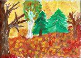 Terdik Éva: Illusztráció Kosztolányi Dezső Nyárutó című művéhez / gyermekrajz