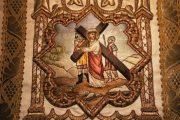 Passió - Jézus vállára veszi a keresztet. Miseruha részlete (Fotó: Legeza Dénes István)