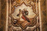 Passió - Jézus először esik el a kereszttel. Miseruha részlete (Fotó: Legeza Dénes István)