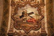 Passió - Jézus másodszor esik el a kereszttel. Miseruha részlete (Fotó: Legeza Dénes István)