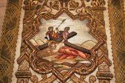 Passió - Jézus harmadszor esik el a kereszttel. Miseruha részlete (Fotó: Legeza Dénes István)
