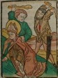 Bonifacio (Illusztráció a Pannonhalmán őrzött Legenda Aurea Sanctorum című ősnyomtatvány 1482-es augsburgi kiadásából)