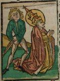 Szent Orbán (Illusztráció a Pannonhalmán őrzött Legenda Aurea Sanctorum című ősnyomtatvány 1482-es augsburgi kiadásából)