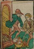 Szent Barnabás (Illusztráció a Pannonhalmán őrzött Legenda Aurea Sanctorum című ősnyomtatvány 1482-es augsburgi kiadásából)