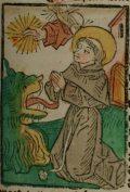 Szent Antal apát (Illusztráció a Pannonhalmán őrzött Legenda Aurea Sanctorum című ősnyomtatvány 1482-es augsburgi kiadásából)