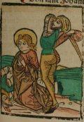 Szent János és Szent Pál (Illusztráció a Pannonhalmán őrzött Legenda Aurea Sanctorum című ősnyomtatvány 1482-es augsburgi kiadásából)