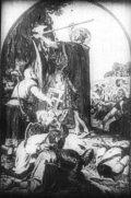 Szent László vizet fakaszt (A Magyar szentek I. c. diafilm részlete)