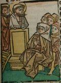 Szent Péter és Szent Pál (Illusztráció a Pannonhalmán őrzött Legenda Aurea Sanctorum című ősnyomtatvány 1482-es augsburgi kiadásából)