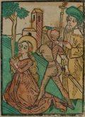 Szent Margit szűz (Illusztráció a Pannonhalmán őrzött Legenda Aurea Sanctorum című ősnyomtatvány 1482-es augsburgi kiadásból)