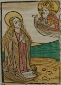 Szent Brigitta (Illusztráció a Pannonhalmán őrzött Legenda Aurea Sanctorum című ősnyomtatvány 1482-es augsburgi kiadásából)