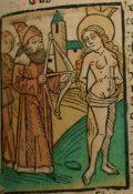 Szent Krisztina (Illusztráció a Pannonhalmán őrzött Legenda Aurea Sanctorum című ősnyomtatvány 1482-es augsburgi kiadásából)