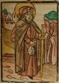 Szent Jakab (Illusztráció a Pannonhalmán őrzött Legenda Aurea Sanctorum című ősnyomtatvány 1482-es augsburgi kiadásából)