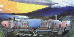 Csontváry Kosztka Tivadar: A Taorminai görög színház romjai (fotó: Gottl Egon)