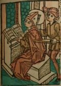 Szent Kilián vértanú (Illusztráció a Pannonhalmán őrzött Legenda Aurea Sanctorum című ősnyomtatvány 1482-es augsburgi kiadásából)