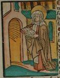 Szent Klára (Illusztráció a Pannonhalmán őrzött Legenda Aurea Sanctorum című ősnyomtatvány 1482-es augsburgi kiadásából)