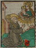 Bernát (Illusztráció a Pannonhalmán őrzött Legenda Aurea Sanctorum című ősnyomtatvány 1482-es augsburgi kiadásából)