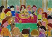 Illusztráció Faludi Ferenc Szent István királyhoz című művéhez / gyermekrajz