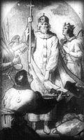 István egyházat alapít (A Magyar szentek I. c. diafilm részlete)