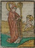 Szent Ágoston (Illusztráció a Pannonhalmán őrzött Legenda Aurea Sanctorum című ősnyomtatvány 1482-es augsburgi kiadásából)