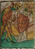 Szent István pápa (Illusztráció a Pannonhalmán őrzött Legenda Aurea                         Sanctorum című ősnyomtatvány 1482-es augsburgi kiadásából)
