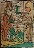 Szent Oszvald (Illusztráció a Pannonhalmán őrzött Legenda Aurea                         Sanctorum című ősnyomtatvány 1482-es augsburgi kiadásából)