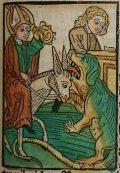 Szent Donát (Illusztráció a Pannonhalmán őrzött Legenda Aurea Sanctorum című ősnyomtatvány 1482-es augsburgi kiadásából)
