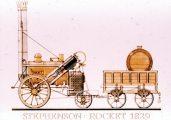 Stephenson: Rocket, 1829 (A Régi mozdonyok c. diafilm részlete)