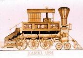 Kamel, 1854 (A Régi mozdonyok c. diafilm részlete)
