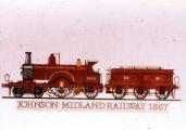 Johnson: Midland Railway, 1887 (A Régi mozdonyok c. diafilm részlete)