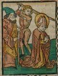 Cipriano (Illusztráció a Pannonhalmán őrzött Legenda Aurea Sanctorum című ősnyomtatvány 1482-es augsburgi kiadásából)