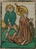 Kornél (Illusztráció a Pannonhalmán őrzött Legenda Aurea Sanctorum című ősnyomtatvány 1482-es augsburgi kiadásából)