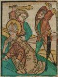 Szent Lambert (Illusztráció a Pannonhalmán őrzött Legenda Aurea Sanctorum című ősnyomtatvány 1482-es augsburgi kiadásából)