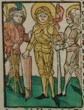 Szent Móric (Illusztráció a Pannonhalmán őrzött Legenda Aurea Sanctorum című                         ősnyomtatvány 1482-es augsburgi kiadásából)