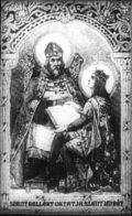 Szent Imre és Szent Gellért (A Magyar szentek I. c. diafilm részlete)