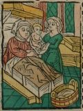 Kisasszony napja (Illusztráció a Pannonhalmán őrzött Legenda Aurea Sanctorum című ősnyomtatvány 1482-es augsburgi kiadásából)