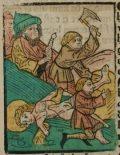Szent Adorján (Illusztráció a Pannonhalmán őrzött Legenda Aurea Sanctorum című ősnyomtatvány 1482-es augsburgi kiadásából)