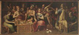 Ismeretlen itáliai festő: Zenélő társaság (fotó: Gottl Egon)