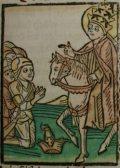 Szent Leó pápa (Illusztráció a Pannonhalmán őrzött Legenda Aurea Sanctorum című ősnyomtatvány 1482-es augsburgi kiadásából)