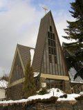 A Szent Imre-templom Mátraszentimrén, 1980 (fotó: Németh Gábor Árpád)