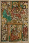 Szent Ambrus (Illusztráció a Pannonhalmán őrzött Legenda Aurea Sanctorum című ősnyomtatvány 1482-es augsburgi kiadásából)