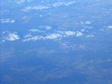 Látkép a repülőről (fotó: Bánkeszi Katalin)
