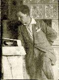 Dsida Jenő a Keleti Újság szerkesztőségében – A Petőfi Irodalmi Múzeum fotótárának tulajdona (fotó: ismeretlen szerző)