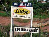 Kofi Annan út, Accra (Ghána)(fotó: Konkoly-Thege                         György)