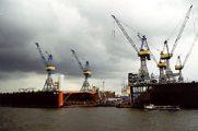 Hamburgi kikötő (Németország)(Fotó: Konkoly-Thege György)