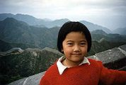 Kínai kislány a Nagy Falon(fotó: Konkoly-Thege                         György)
