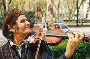 Madridi utcai zenész (Spanyolország)(Fotó: Konkoly-Thege György)